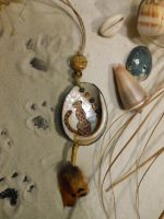 Beach Leopard Pendant by CheshireGhost