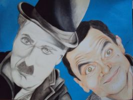 Charlie Chaplin e Mr Bean by Gvs-13