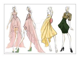Preliminary Sketches for Costume Designs by arthuraleksandr