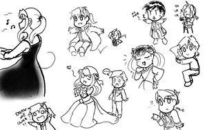 Late Night FMA Sketches by tsukiflower