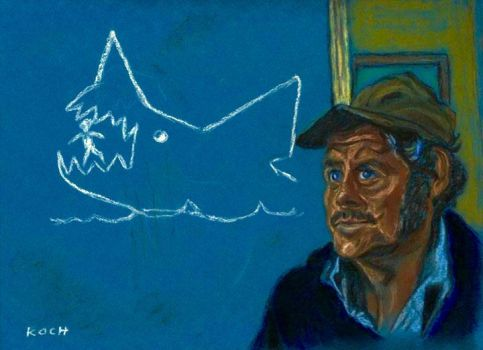Quint gets some attention/JAWS by Roger Koch by tabongafan