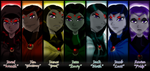 TT - Raven and Half Brothers Lineup by DarkenedSparrow