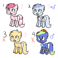 Cat Adoptables by TheShadowArtist100
