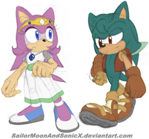 FC Designs - Kind Princess and Humble Merchant by SailorMoonAndSonicX