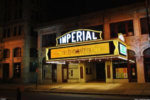 Imperial theater's enterance by Joseph-W-Johns