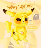 Advent Request #2: Pikachu by FluffableSheep