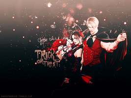 Trick or treat {HBD LeonandClaireBSAA} by AnogaTheRose