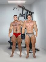 Brothers at the Gym by lazlong