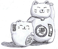 Fortune Cat Dolls by bozoloko