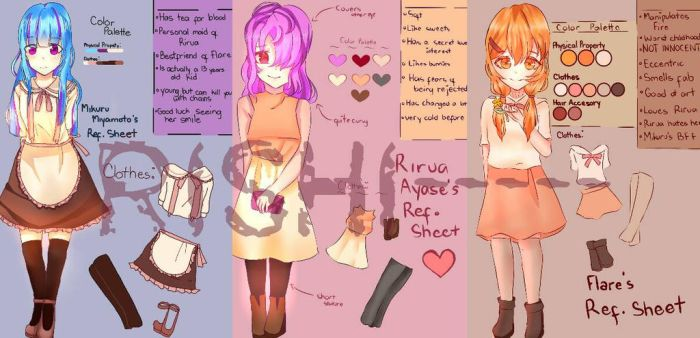 My 3 Main OC's Ref Shee (names at the description) by Ri-Shi