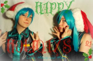 Hatsune Holiday Card by XxNaomi-LukarixX