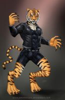 Commission: Human Tiger by johnbecaro