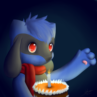 Fiery's BD - Nathan got a Cake!! by Lekisceon