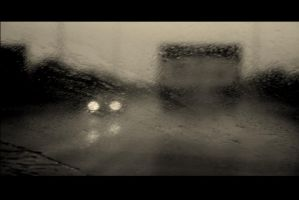 driving in the rain by mihmann