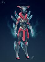 Hel Mistress of the Dead - Warframe Ghost-concept by gaber111