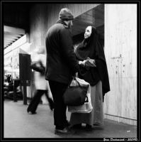 Romantic moment on the Subway by Froudich