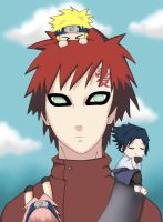 Gaara and chibi's by Kuriuss