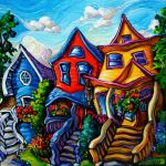 Summer Street Houses by Laurazee
