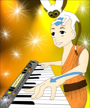 Aang on the Keyboard by MMemmyMM