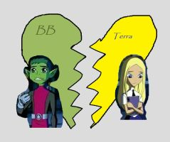 Beast Boy and Terra together on BBandTerra  deviantART