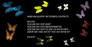 MMD Realistic Butterflies by ChestNutScoop