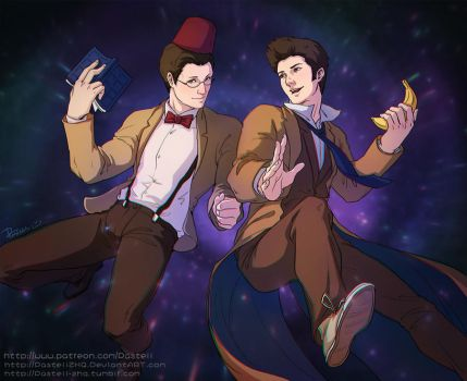 Doctor WHO_11th+10th by pastellZHQ