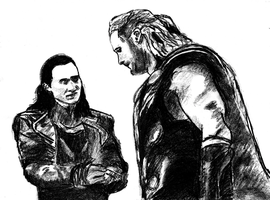 Thor And Loki by Eleanor-Anne6