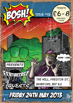 Bosh! Featurecast Flyer by lkewis