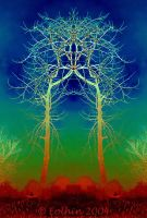Temple Tree 2 Psychedelic 002 by Eolhin
