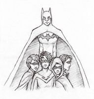 Batman and his Robins by Sjostrand