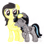 Commission: Widdle Rainstorm and Lemondrop by Acuario1602