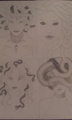 Medusa sketches