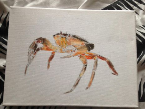 acrylic painted crustacean by Soulslayer317
