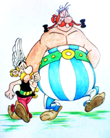 Asterix And Obelix by Vinzul