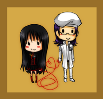 DGM: Chibi Ori and Komui by GazeRei