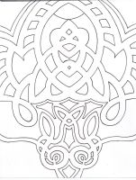 Tribal Hell WIP by Lucky-Cat-Tattoo