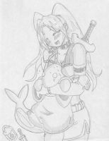 RPG cutie holding a Tonberry by kamon-san