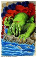 Cthulhu in Crayons by babylon-sticks