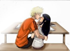 Naruhina kiss by Terrysoul