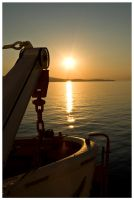 Sunset Lifeboat by Apotag