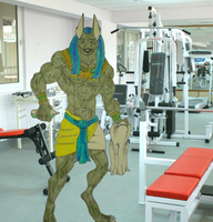 anubis finished in the gym by tribalwolfie