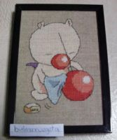 Moogle - cross stitch by bulmaxvegeta