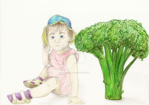 Broccoli Girl by In-My-Place