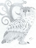 Hand-drawn: Zentangle Owl by EffervescentElixir