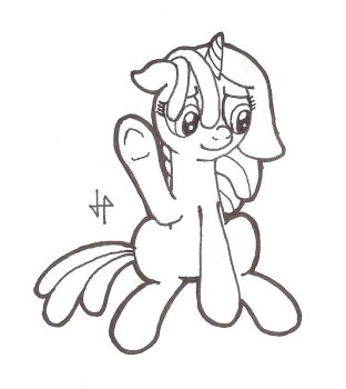 Lineart Comission: Shy Smile by DoctorGiratina