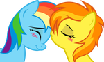Spitfire and Dash: sweet kiss by KennyKlent
