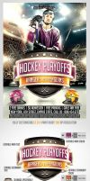Hockey Playoffs Flyer template by saltshaker911