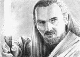 Qui-Gon Jinn mini-portrait by whu-wei