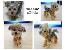 Pipe Cleaner Morkie by fuzzington