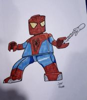 Lego Movie Spidey commission by PlummyPress